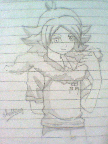 my drawing of Fubuki!!! XD
