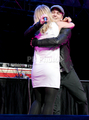 natasha bedingfield and ryan tedder on stage