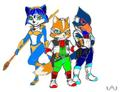 new starfox team colored - star-fox photo