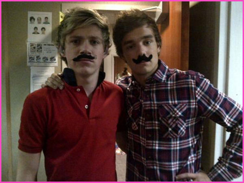 niam with fake staches