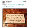 nina's tweet
