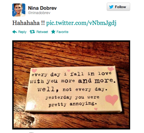 nina's tweet - ian-somerhalder-and-nina-dobrev Fan Art