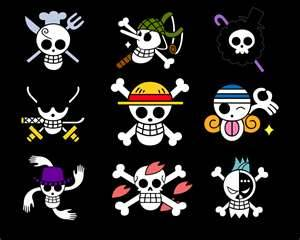 one piece charactor logo