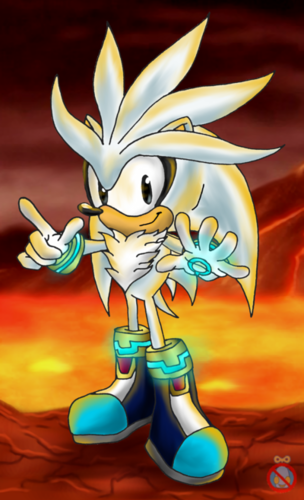 Silver the Hedgehog wallpaper containing anime titled silver