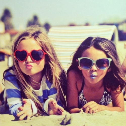 Photography Fan wallpaper with sunglasses titled sisters