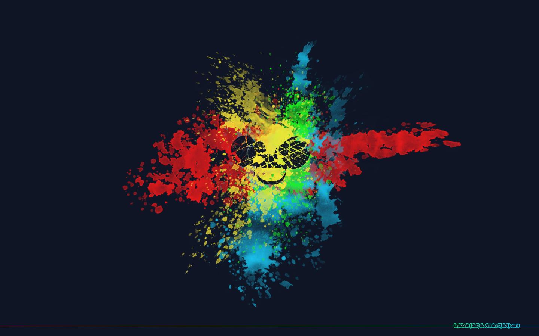 deadmau5 images splatter deadmau5 hd wallpaper and