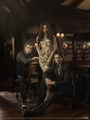 the vampire diaries poster damon elena stefan