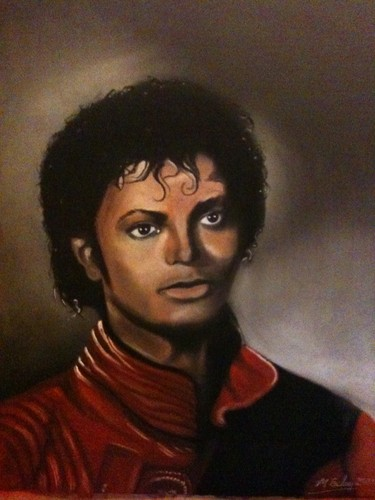 thriller drawn by me  in chalks