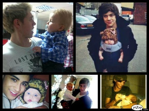 with baby lux - one-direction Photo