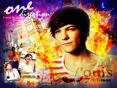 Louis Tomlinson fond d'écran with animé called ♥Louis♥