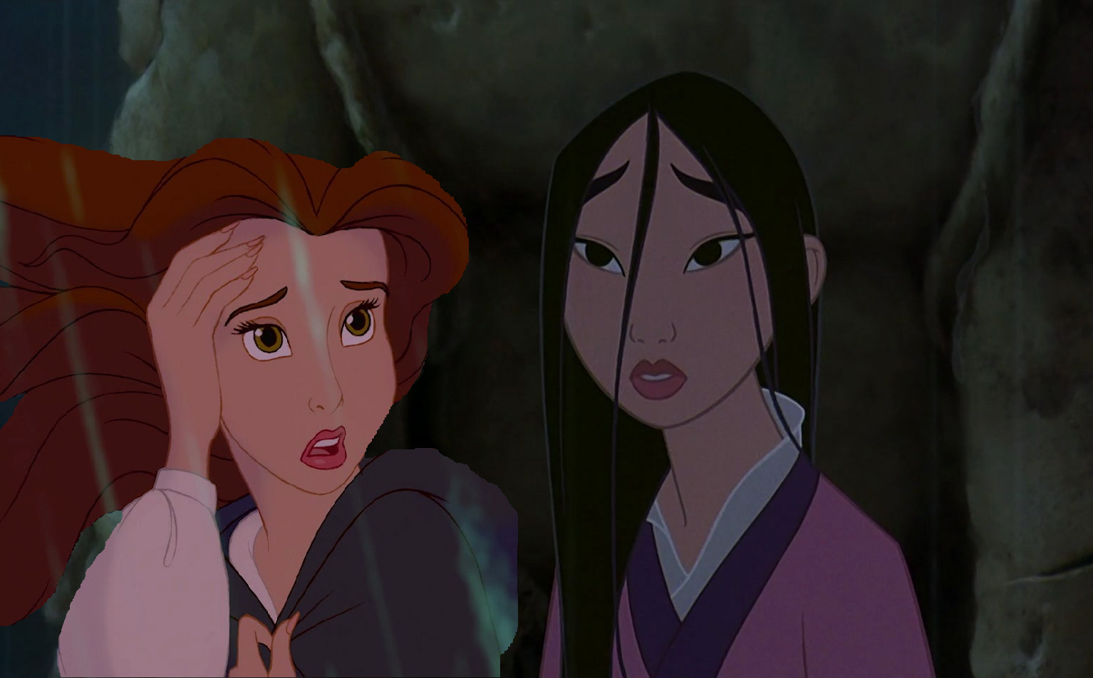 """What are you doing out the rain, Mulan?"""