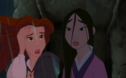 """What are wewe doing out the rain, Mulan?"""