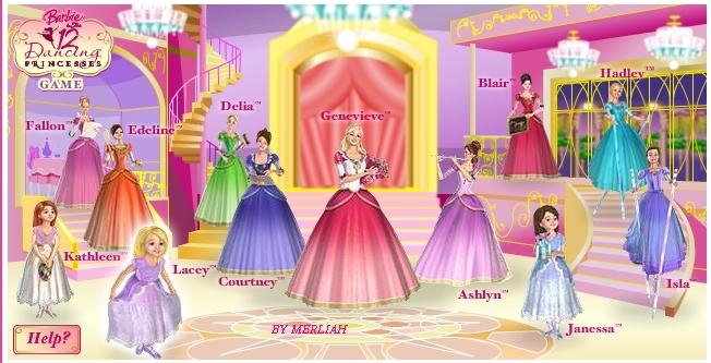Barbie in the 12 Dancing Princesses 12 princess
