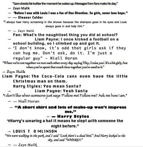 1D's Quotes♥