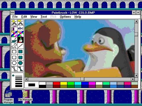 A 1990s Fanguin's Computer
