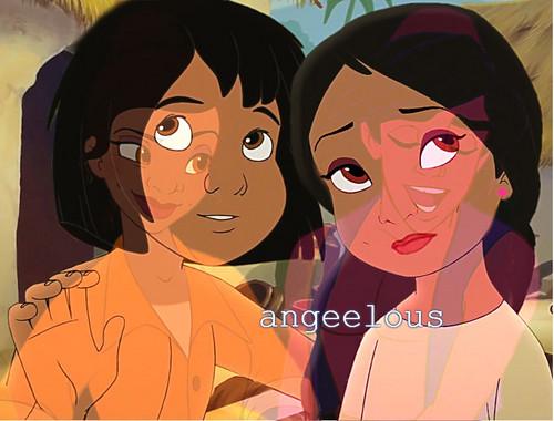 अलादीन & Tiana's children.