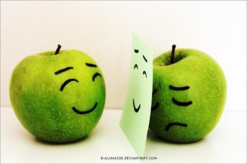 apel, apple Fake Smile