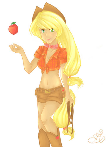 applejack Humanized