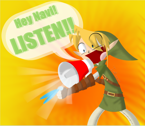 Are you listening?! - the-legend-of-zelda Fan Art