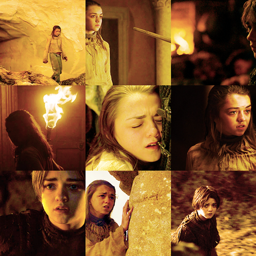 Arya Stark پیپر وال possibly with a سر کاٹنے, گلوٹین and a آگ کے, آگ entitled color meme → Arya Stark