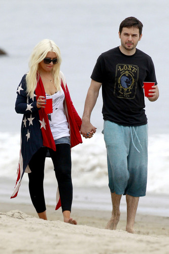 At The Beach In Malibu (4 July 2012)