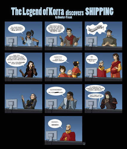 Avatar: LOK Discovers Shipping! - avatar-the-legend-of-korra Fan Art