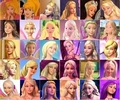Barbie all faces