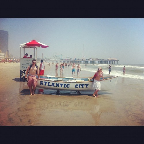 Beaching it in AC with Peter and Laura