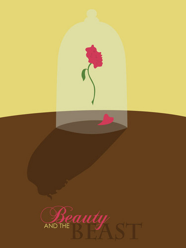 Beauty and the Beast Minimalist Poster