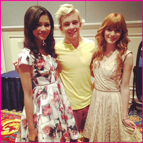 Bella Thorne, Zendaya Coleman, Ross Lynch And Laura Marano At Walt Disney World