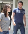 Ben and Jen head to a friend house - ben-affleck-and-jennifer-garner photo