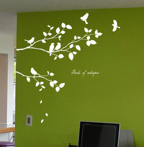 Birds Of Whisper Branches with Birds Стена Sticker
