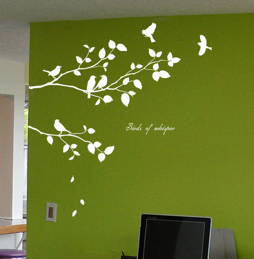 Birds Of Whisper Branches with Birds Wall Sticker
