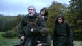 Bran and Rickon with Osha and Hodor