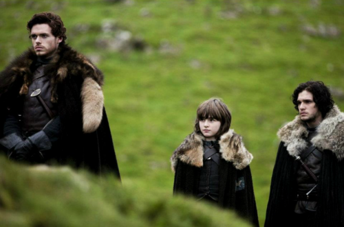 Bran with Robb and Jon