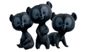 The little triplets bears - brave photo