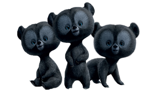 Merida - Legende der Highlands Hintergrund titled The little triplets bears