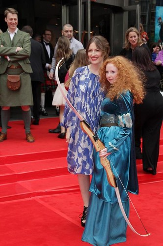 Kelly Macdonald and Merida (Catlyn)