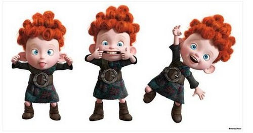 Merida - Legende der Highlands Hintergrund called The Triplets