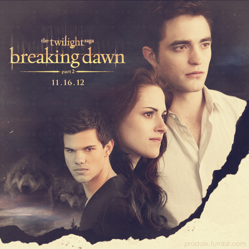 Breaking dawn p2 - Bella, Jacob and Edward