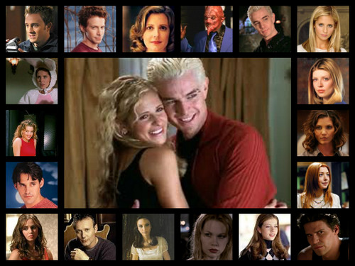Buffy the Vampire Slayer پیپر وال entitled Buffy Collage