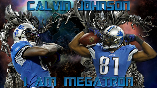 Calvin Johnson I Am Megatron Detroit Lions 壁纸