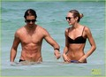 Candice Swanepoel and Hermann Nicoli at the beach