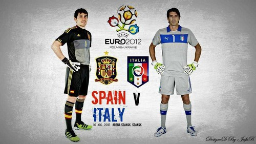 Casillas and Buffon Euro 2012