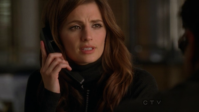"Kate Beckett karatasi la kupamba ukuta with a portrait called Castle, Season 3, Episode 12, ""Poof! You're Dead"""