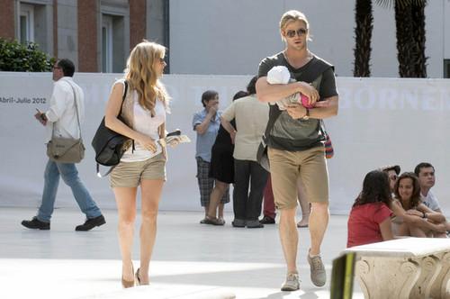 Chris Hemsworth and Elsa Pataky Tour Madrid