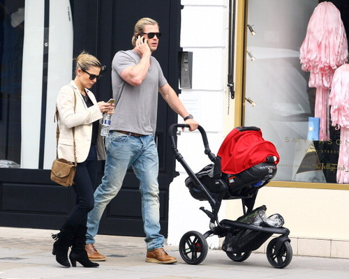 Chris and Elsa Pataky