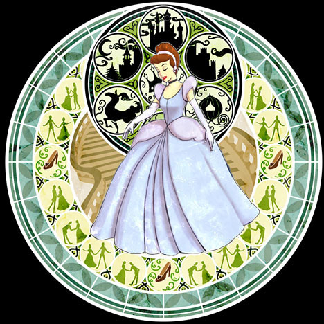 Cinderella Stained Glass - disney-princess Fan Art