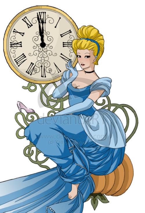 Cinderella And The Clock Disney Princess Fan Art