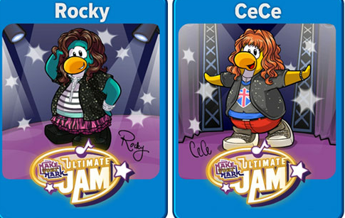 Club pinguïn meets rocky and cece from disney channels shake it up